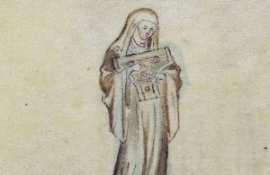 Queen Mary Psalter Nun (2)